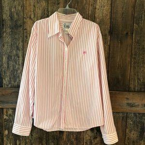 Lilly Pulitzer, 12, Pink & White Stripe Shirt